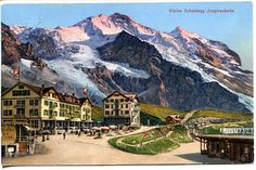 Vintage postcard of Kleine Scheidegg, Switzerland, ca. 1900.