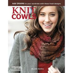 """LEISURE ARTS """"Knit Cowls: 10 Designs For Every Neck"""" Book by Lisa Gentry"""