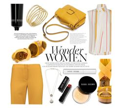 """wonder woman"" by raniaghifaraa ❤ liked on Polyvore featuring Merchant Archive, Frame Denim, Promise Shoes, Kenneth Cole, Bobbi Brown Cosmetics and Lauren Ralph Lauren"