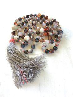 Autumn Mala Beads Emotional Healing Mala by TrueNatureJewelry