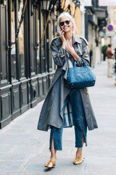 #streetstyle #coat #bluebag