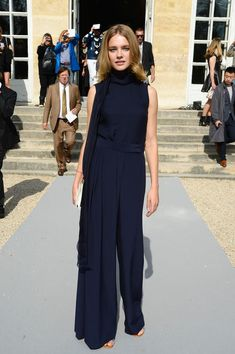 Natalia Vodianova  - At the Christian Dior show as part of the Paris Fashion Week Womenswear Spring/Summer 2014.