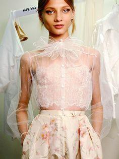 """anna selezneva backstage at valentino haute couture, spring 2012"" - stunning."