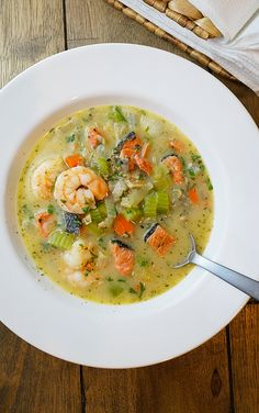 Triple Seafood Chowder {Paleo/AIP/Whole30/21dsd}   Grazed and Enthused