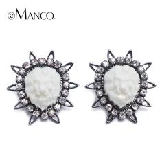 Lionhead trendy big Multi-corner earrings for women Emanco Brand 2014 European And American rhinestone stud earrings ER03582