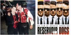 Behind the scenes shots from the bloody set of 'Reservoir Dogs'