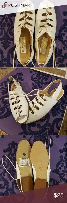 LEATHER White Strappy Leather Sandals Made in Brazil! Made Beautifully! PANAMA- BRAZIL Shoes Sandals