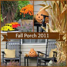 Fun porch decor for fall