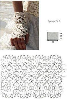 Crochet Gloves Patterns Part 1 - Beautiful Crochet Patterns and Knitting Patterns Crochet Diy, Mode Crochet, Crochet Crafts, Crochet Projects, Blog Crochet, Crochet Things, Irish Crochet, Crochet Gloves Pattern, Crochet Diagram