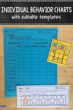 Individual Behavior & reward Charts - make documenting and creating behavior plans from an IEP easy! These charts are perfect for providing individualized behavioral support for students in the classroom. Young children (kindergarten, 1st grade, & second grade) often need assistance and visual supports to stay accountable for their behavior choices. These reward charts included editable templates you can use to help your kids be successful! Use these to support & behavior plan or IEP goals.