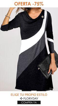 Ponte el mejor de los vestidos Floryday Dresses, Dresses For Work, Party Dress, Neckline, Tunic, Suits, Cloths, Casual, Color