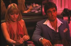 Scarface 1983 Al Pacino Michelle Pfeiffer Image 1 Elvira Scarface, Scarface Film, Scarface Quotes, Al Pacino Michelle Pfeiffer, Young Al Pacino, Elvira Hancock, Gangster Movies, Dvd Blu Ray, The Godfather