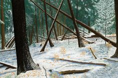Windswept Woods by George Burr. Available in the Door  County Fine Art Gallery.