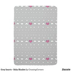 Grey hearts - Baby Blanket Soft Baby Blankets, Consumer Products, Cool Patterns, Business Supplies, Party Hats, Your Child, Art Pieces, Kids Shop, Hearts