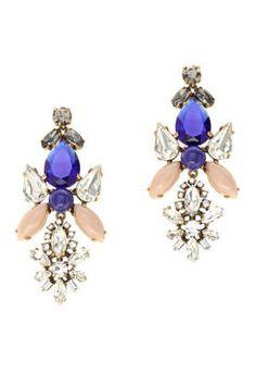 J. Crew Crystal Symmetry Earrings,