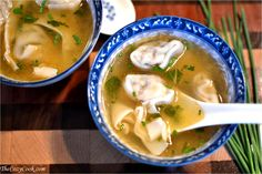 This savory wonton soup is so comforting and easy to make. The broth is so savory, and the wontons add that special something. Perfect for a cozy night in.