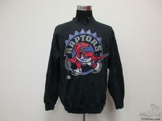 Vtg 90s Logo 7 Toronto Raptors Crewneck Sweatshirt sz L Large NBA Vince Carter #Logo7 #TorontoRaptors