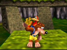 banjo kazooie!  ---- all I can remember about this is playing it at McDonalds :P