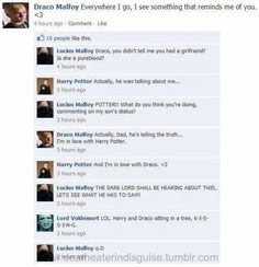 HAHAHAHA OMG. I love Lucius Malfoy's reaction and then Voldemort's reaction, I mean lol<-- the dark lord ships it!!!