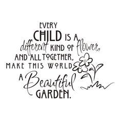 Teksten - mooi verwoord, elk kind is speciaal!