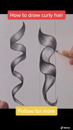 Art Drawings Sketches Simple, Pencil Art Drawings, Realistic Drawings, Easy Drawings, Drawing Hair Tutorial, Poses References, Diy Canvas Art, How To Draw Hair, Drawing Techniques
