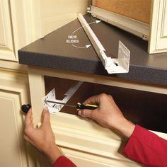 Replacing a drawer slide Drawer Slides Tips Tricks Pinterest