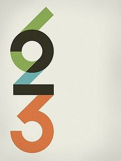 Typography, numbers The way thy join up together, and the different colours interest me