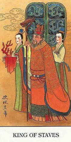 King of Wands - Chinese Tarot by Jui Guoliang Chinese