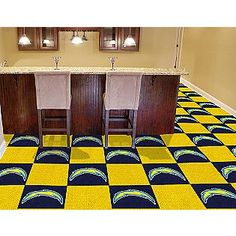 <3 this! San Diego Chargers carpet tiles. :)