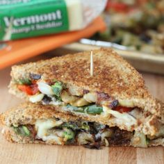Roasted Veggie Grilled Cheese! from Living Well Kitchen #grilledcheese #vegetarian