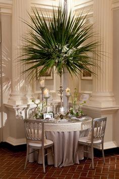 Designer: HMR Design Group Linens: Silver Shantung with Custom White Garden Pearl Band #wedding #ideas