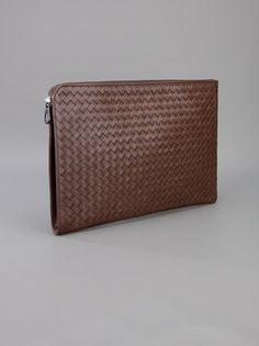 BOTTEGA VENETA - woven leather wash bag
