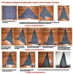 pliage serviette on pinterest folding napkins napkins and origami. Black Bedroom Furniture Sets. Home Design Ideas