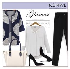 """ROMWE II/3"" by amra-mak ❤ liked on Polyvore featuring Gianvito Rossi and romwe"