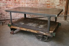 Industrial Antique Furniture | Hudson Goods Blog: Vintage Industrial Furniture » cast iron wheels