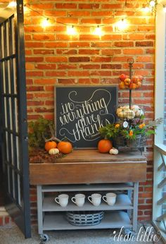 Our Fall Porch (Dear Lillie)