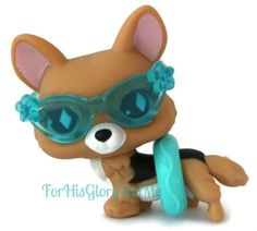 Littlest Pet Shop✵LPS 724✵TAN BROWN BLACK CORGI PUPPY DOG✵RARE✵HTF✵TRU Exclusive
