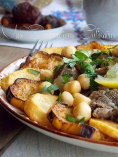 Mderbel aubergines sauce blanche, cuisine algérienne