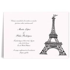 Invitaciones de boda París Vintage
