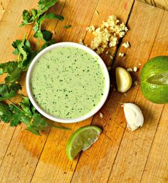 Peruvian Green Sauce is a jalapeno, cilantro, garlic lover's delight! This Peruvian recipe is WAY BETTER than ketchup! Perfect on Peruvian chicken! Salsa Verde, Salsa Picante, Peruvian Green Sauce Recipe, Peruvian Recipes, Sauce Recipes, Cooking Recipes, Cooking Blogs, Grilling Recipes, Cooking Kale