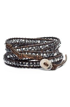 Grey Chan Luu Beaded Leather Wrap Bracelet available at #Nordstrom