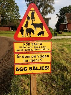 Mer varning blir det inte | Funny Facts, Funny Jokes, Hilarious, Eggs For Sale, Funny Road Signs, Aesthetic Indie, Think Happy Thoughts, Man Humor, Laughter