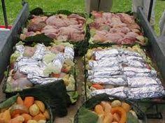 NZ maori , Hangi Kai (food) cooked in a earth oven
