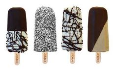 handcrafted ice-cream on a stick, made and topped with natural ingredients. Yum!