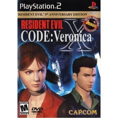 Resident Evil -- CODE: Veronica X (Sony PlayStation 2, 2002) Complete