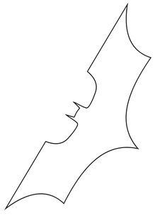 batman symbol template | Batman Symbol Stencil Free