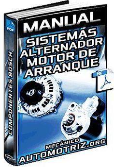 Descargar Manual Completo de Sistemas de Generación de Energía Bosch - Alternador, Motor de Arranque, Componentes, Corriente, Rotor, Resistencia, Poleas, Averías y Esquema.