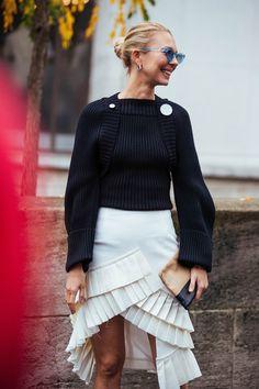Elegante Kleider mit modernen Twists. Die schönsten Street-Styles aus Paris