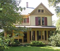 Beautiful Queen Anne with a wraparound porch (Photo: Bruce Wentworth)   Old House Journal Curb Appeal Month—31 days of inspiration & advice sponsored by www.vintagedoors.com