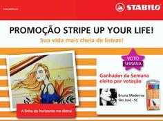 A mais VOTADA da semana na promoção Stripe Up Your Life foi a Bruna Medeiros, de São José.